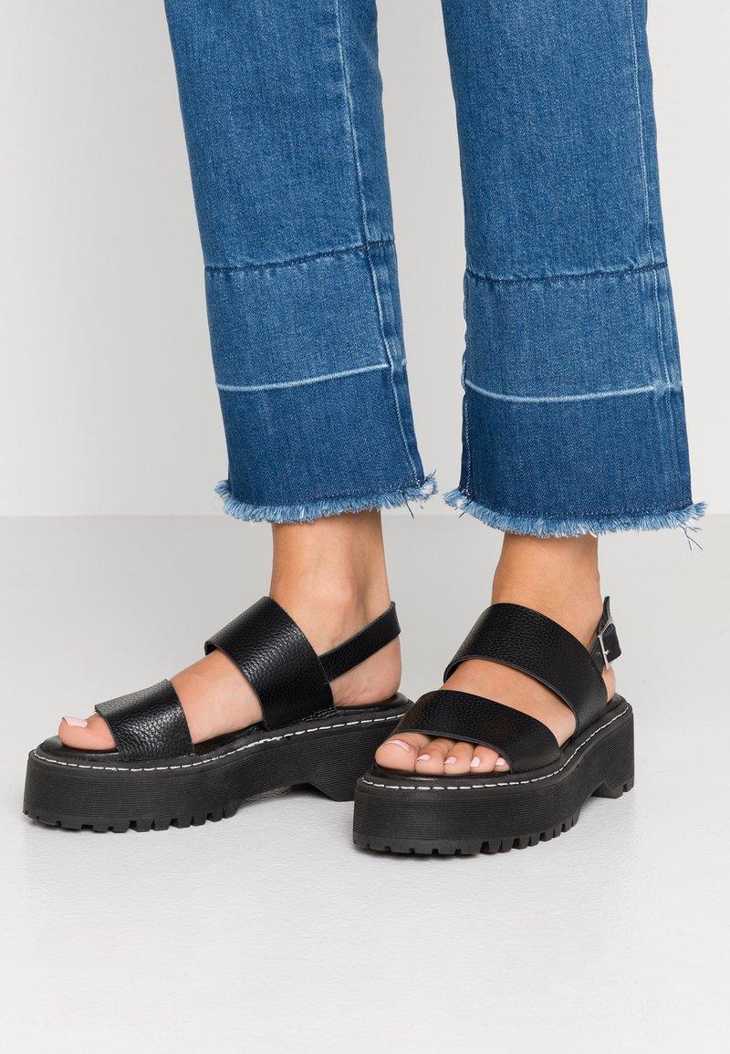 LAB - Sandalias con plataforma - black