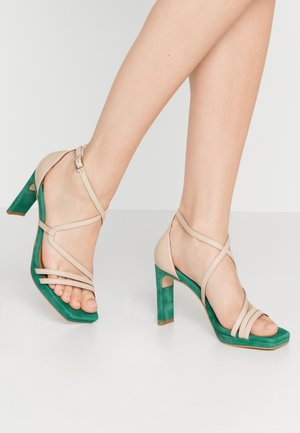High heeled sandals - skin/vendeca