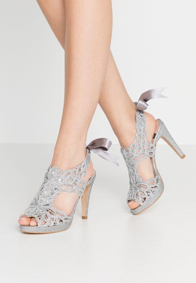 High Heel Sandalette - plata