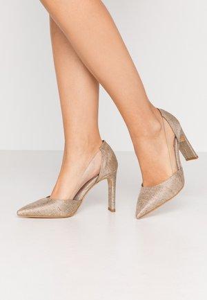 Zapatos altos - orofino/cristal