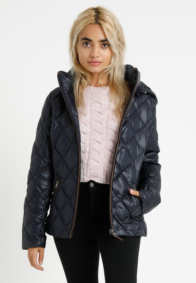PEARL SHEEN HOOD - Down jacket - navy