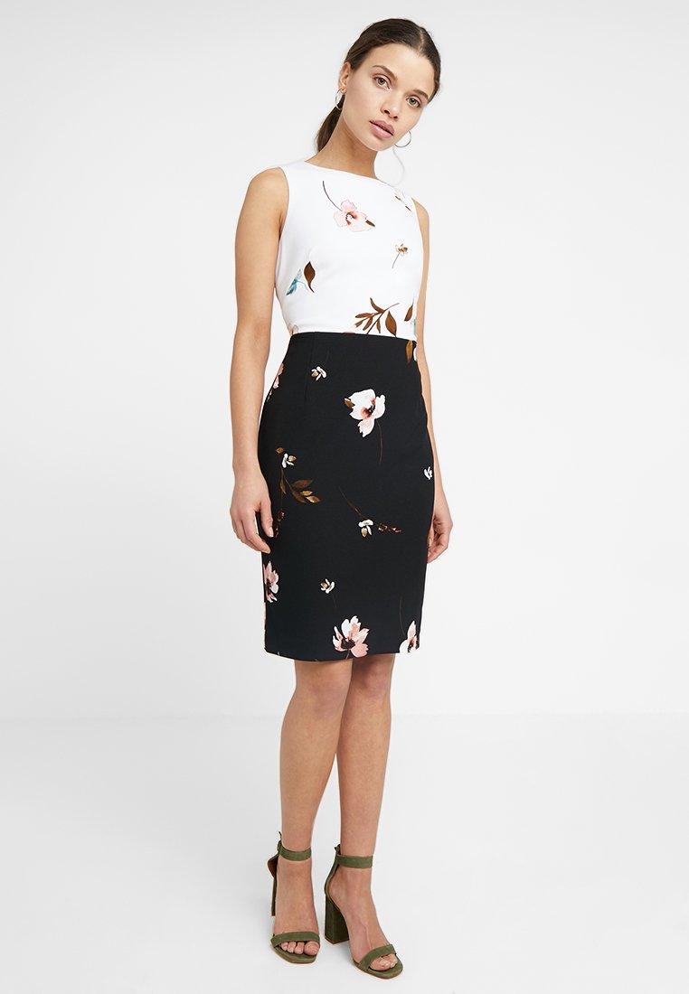 Lauren Ralph Lauren Petite - VALARIE SLEEVELESS DAY DRESS - Etui-jurk - black