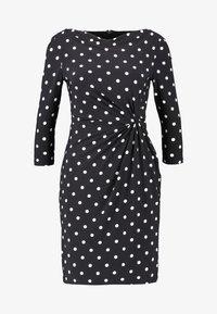 Lauren Ralph Lauren Petite - TRAVA 3/4 SLEEVE DAY DRESS - Fodralklänning - black/colonial cream - 4