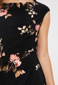 Lauren Ralph Lauren Petite - NOVELLINA CAP SLEEVE DAY DRESS - Robe fourreau - black/pink/multi - 5