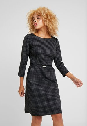 ESHE 3/4 CAP SLEEVE DAY DRESS - Shift dress - grey/black