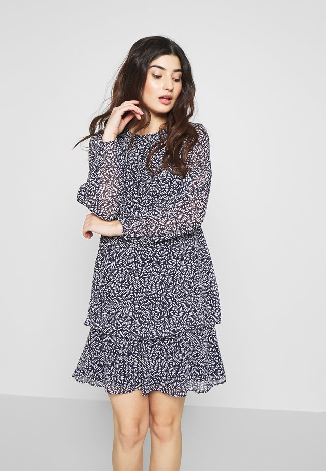 PATTIE LONG SLEEVE DAY DRESS - Vapaa-ajan mekko - dark blue