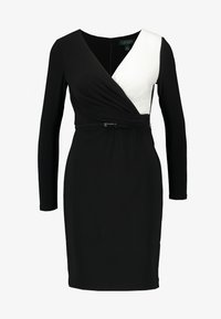 Lauren Ralph Lauren Petite - ALEXIE LONG SLEEVE DAY DRESS - Shift dress - black/white - 5