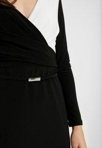 Lauren Ralph Lauren Petite - ALEXIE LONG SLEEVE DAY DRESS - Shift dress - black/white - 6