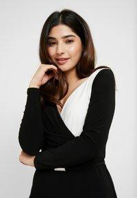 Lauren Ralph Lauren Petite - ALEXIE LONG SLEEVE DAY DRESS - Shift dress - black/white - 4