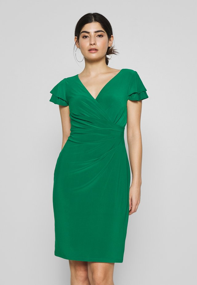 PICA SHORT SLEEVE DAY DRESS - Shift dress - malachite