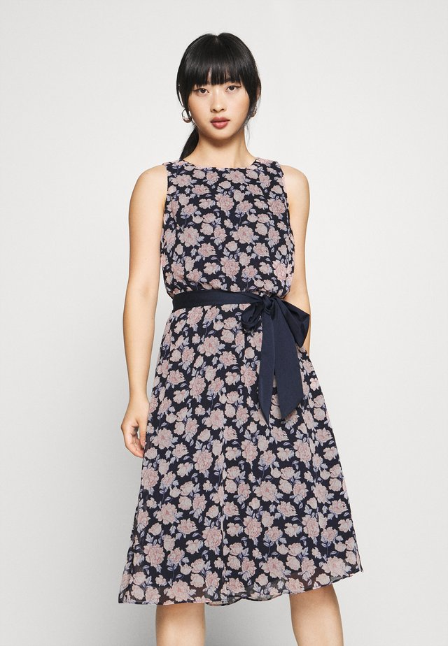 JASPER SLEEVELESS DAY DRESS - Sukienka letnia - navy/pink/multi