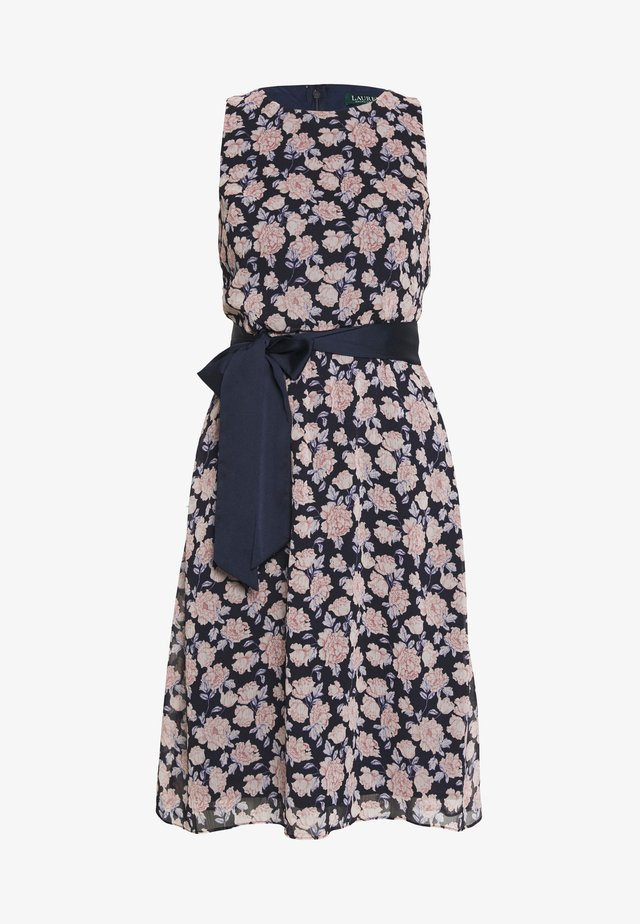JASPER SLEEVELESS DAY DRESS - Vapaa-ajan mekko - navy/pink/multi