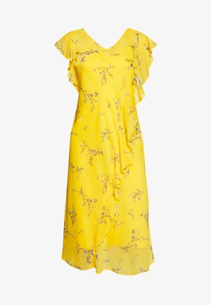 ENDINE CAP SLEEVE DAY DRESS - Day dress - true marigold/grey/multi