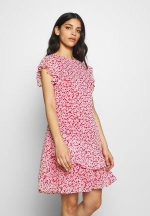 CAP SLEEVE-DAY DRESS - Day dress - berry sorbet/col cream