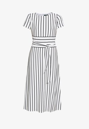KRISTIE SHORT SLEEVE DAY DRESS - Robe d'été - colonial cream/navy