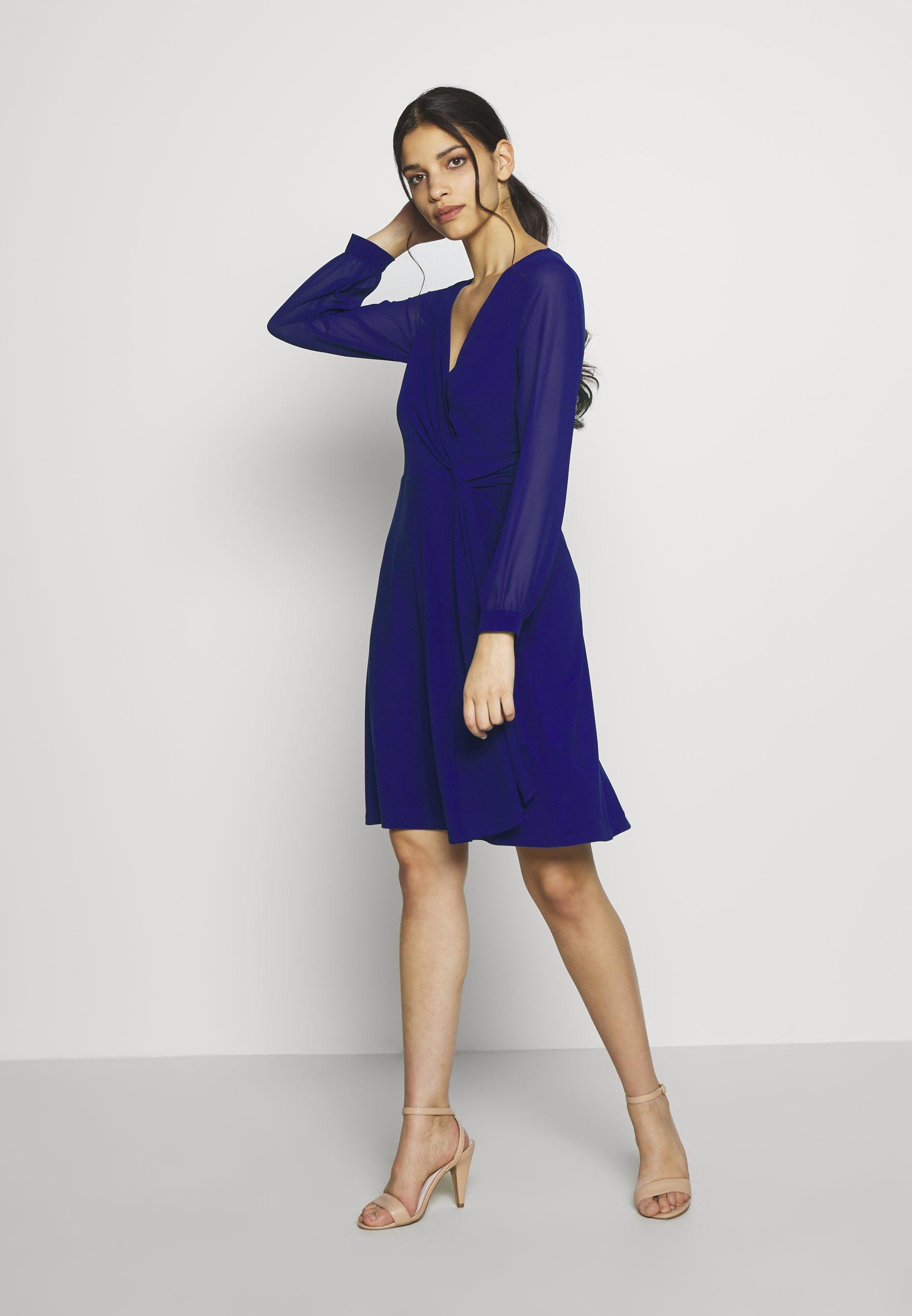 Lauren Ralph Petite Cooper Long Sleeve Day Dress - Vestito Di Maglina Cannes Blue nni6W1t