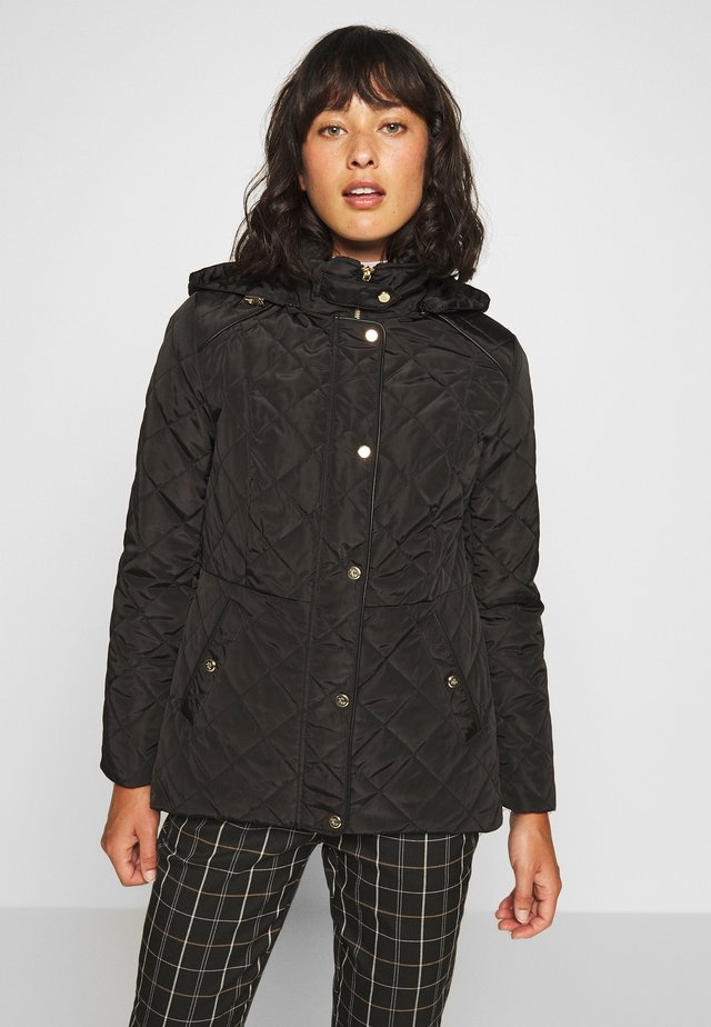 MOTO QUILTED JACKET - Short coat - black