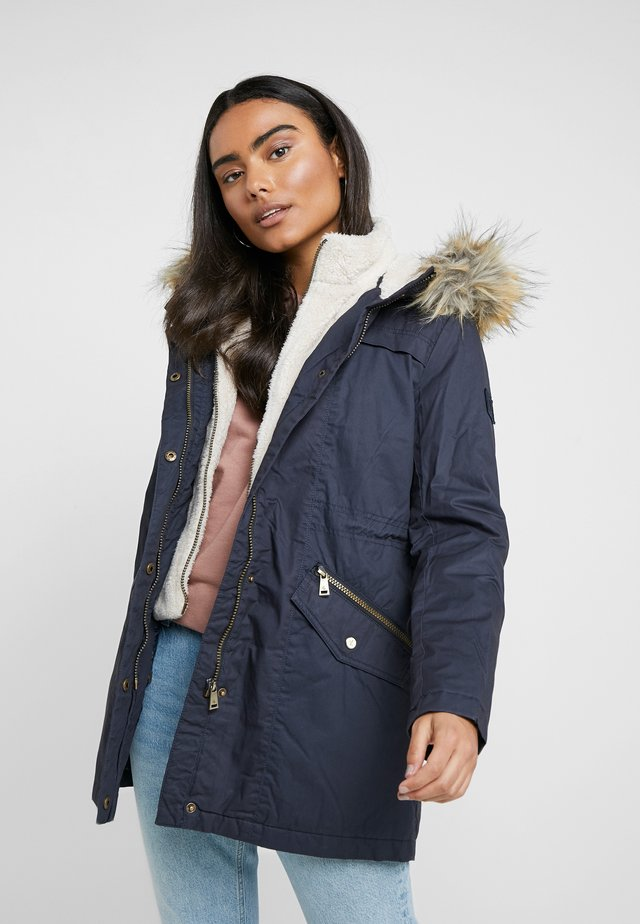 BERBER TRIM ANORAK - Winter coat - navy
