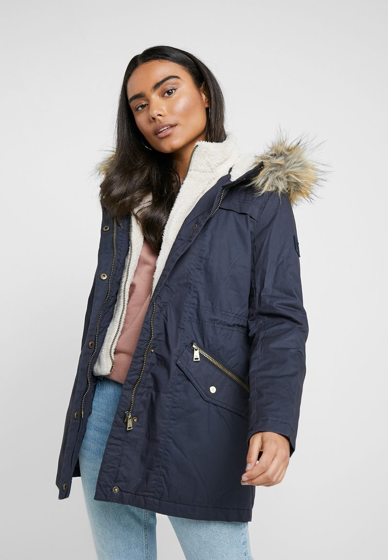 Lauren Ralph Lauren Petite - BERBER TRIM ANORAK - Winter coat - navy