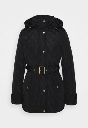 QUILTED JACKET - Halflange jas - black