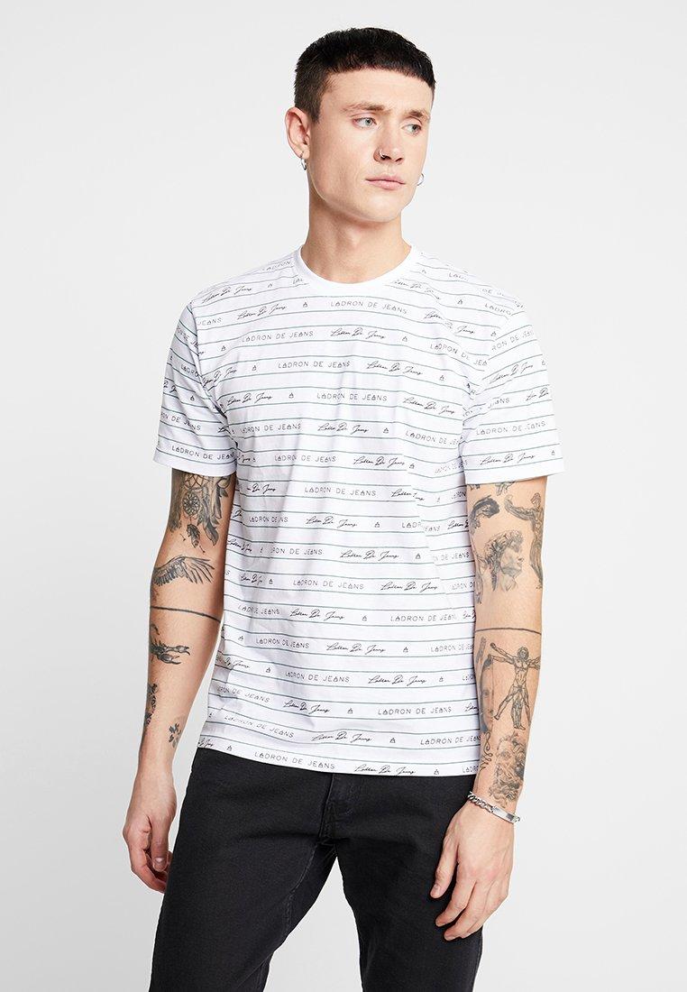Ladron De Jeans - JESE LOGO TEE - Print T-shirt - white