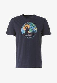 Lakeville Mountain - MOUNTAIN T-SHIRT MERU LEAVES - Print T-shirt - blue - 3