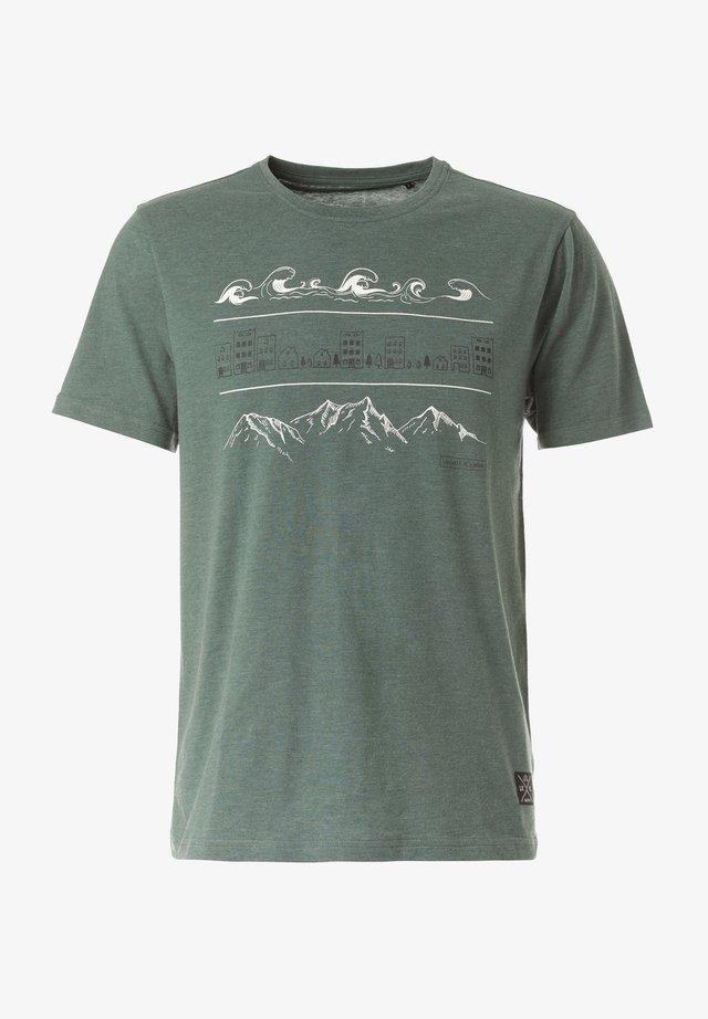 GAMBA - Print T-shirt - green