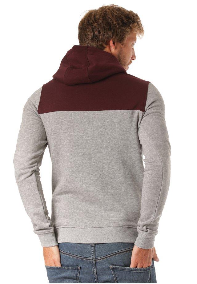 Hoodie - red/grey
