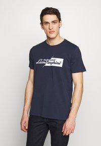 Lamborghini - CUT LOGO - T-shirt imprimé - prussian blue - 0