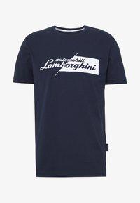 Lamborghini - CUT LOGO - T-shirt imprimé - prussian blue - 3