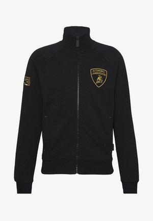 SHIELD LOGO TRACK JACKET - veste en sweat zippée - black