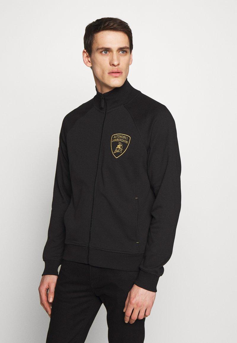 Lamborghini - SHIELD LOGO TRACK JACKET - veste en sweat zippée - black