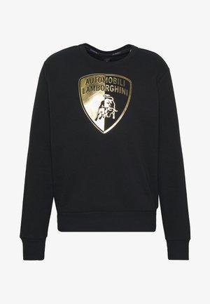 GOLD SHIELD LOGO CREW - Pitkähihainen paita - black