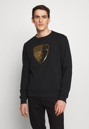 GOLD SHIELD LOGO CREW - Long sleeved top - black