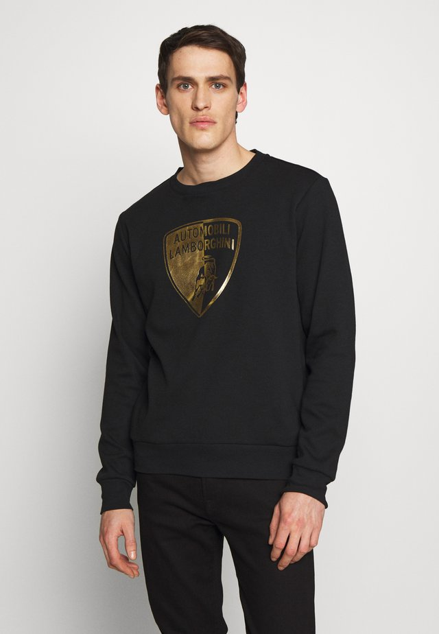 GOLD SHIELD LOGO CREW - Long sleeved top - black