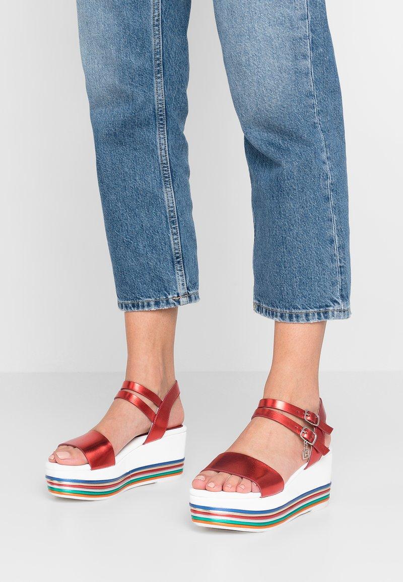 Laura Biagiotti - Platform sandals - red