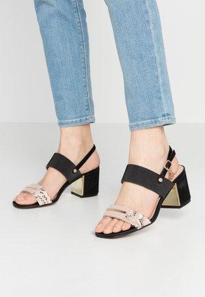 Sandály - beige/black