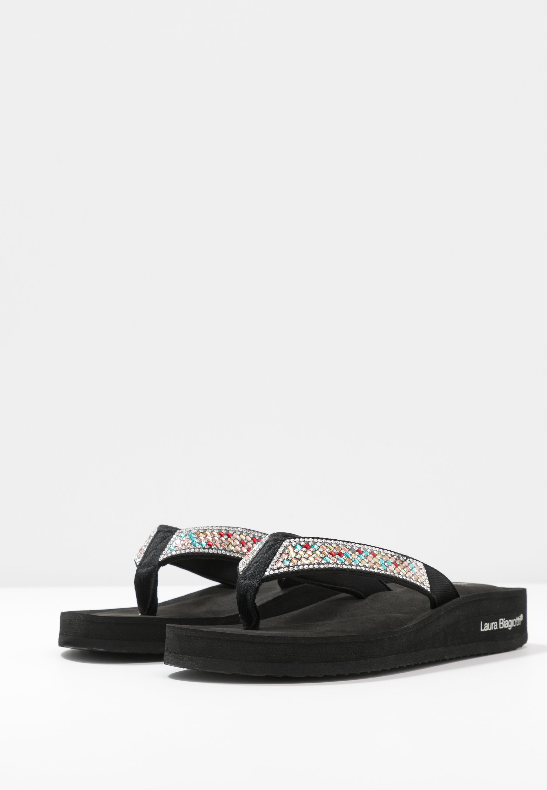 Laura Biagiotti Flip Flops - eva black