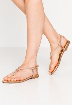 T-bar sandals - mirror skin