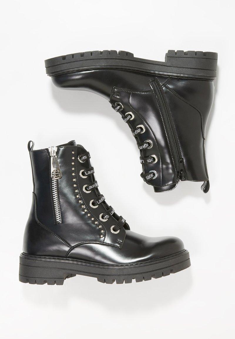 Laura Biagiotti - Cowboy/biker ankle boot - black