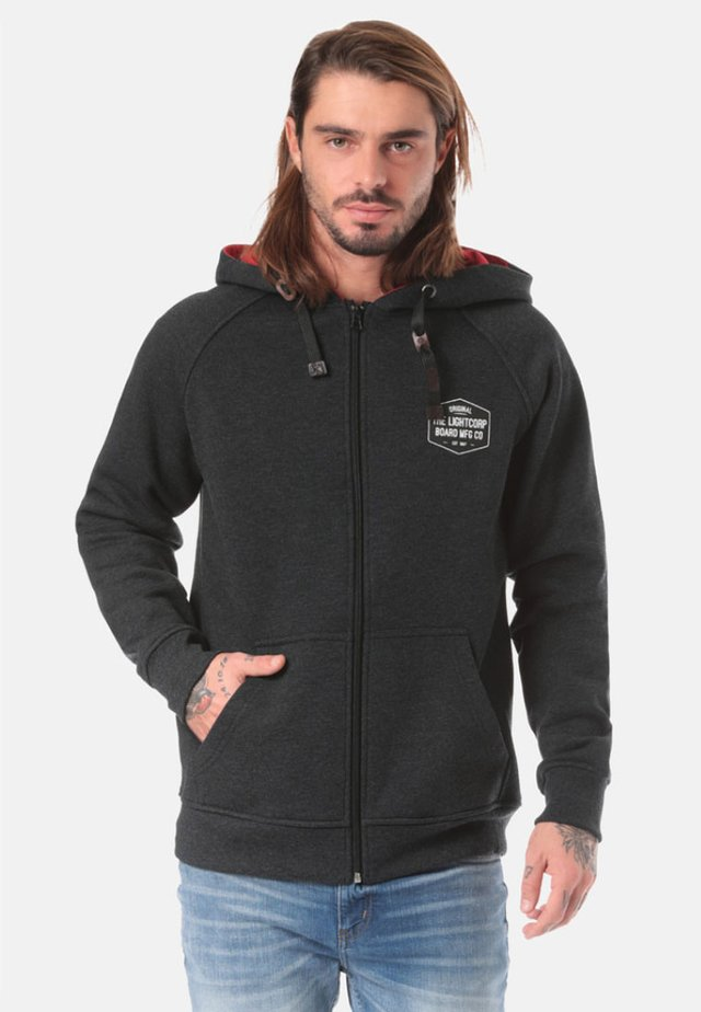 Zip-up hoodie - black