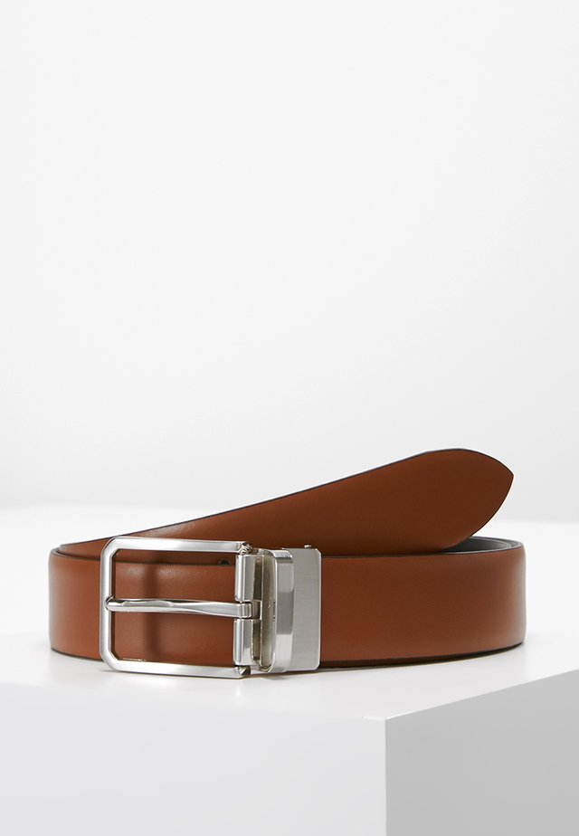 Belt business - cognac/schwarz