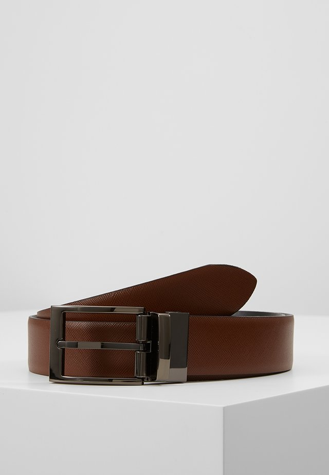 REGULAR BELT - Belt - cognac/schwarz