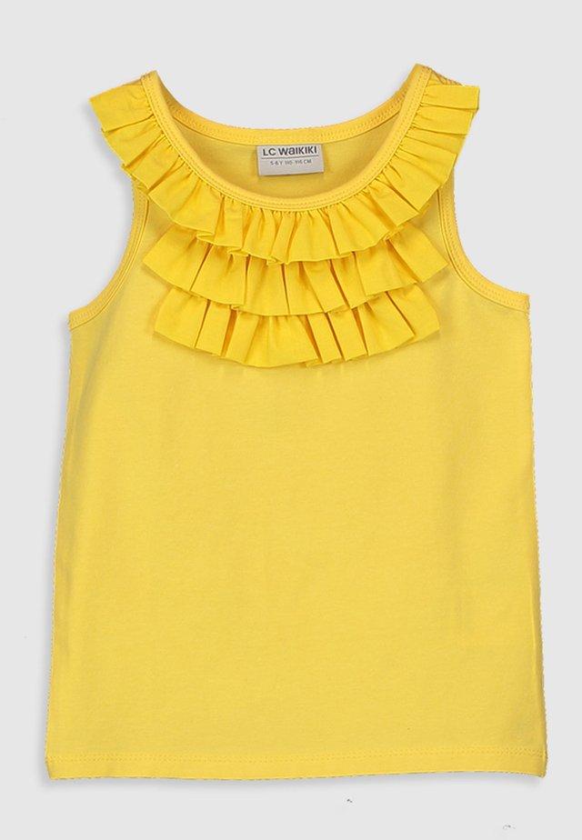 UNTERHEMD - Top - yellow