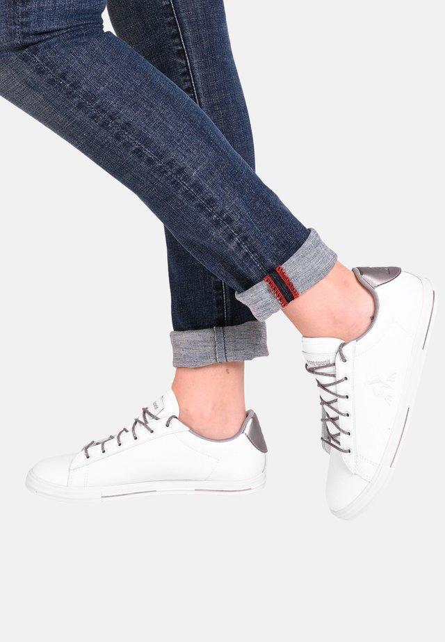 AGATE METALLIC - Sneakers laag - white