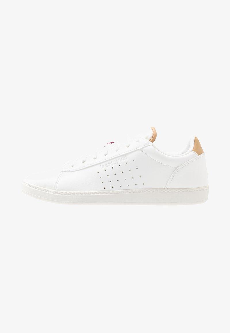 le coq sportif - COURTSTAR - Sneakers basse - optical white/croissant
