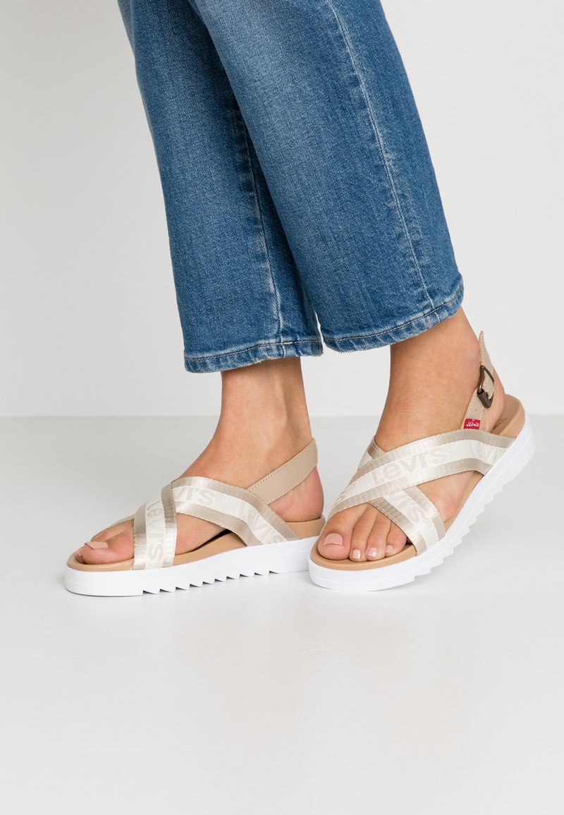 Levi's® - PERSIA - Sandals - regular white