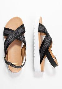 Levi's® - PERSIA - Sandals - regular black - 3