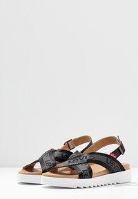 Levi's® - PERSIA - Sandals - regular black - 4