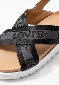Levi's® - PERSIA - Sandals - regular black - 2